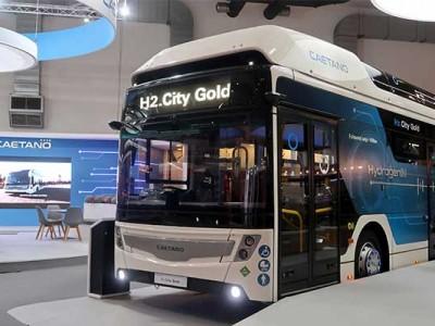 Caetano détaille les caractéristiques de son premier bus à hydrogène