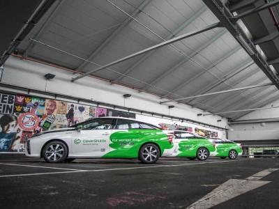 La flotte de Toyota Mirai de CleverShuttle a parcouru plus de 5 millions de km