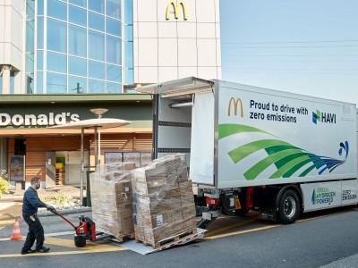 En Suisse, McDonald's se fait livrer en camion hydrogène