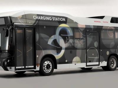 Toyota et Honda transforment un bus hydrogène en générateur électrique de secours