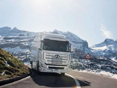 En Suisse, la flotte de camions à hydrogène de Hyundai dépasse le million de kilomètres