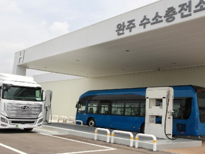 Corée du Sud : une première station hydrogène pour les véhicules lourds