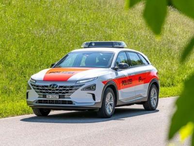 Hyundai Nexo : un SUV à hydrogène pour la police de Zurich
