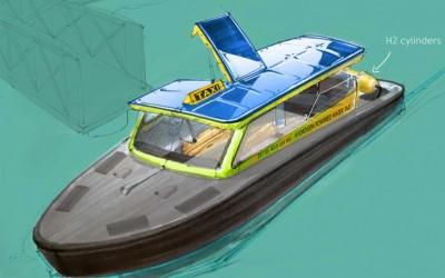 Rotterdam : un bateau-taxi à hydrogène en 2021