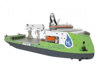 Ulstein lance un navire offshore équipé d'une pile à combustible