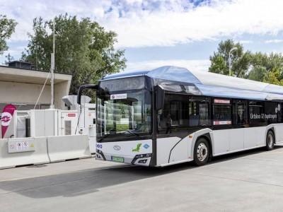 Vienne teste le bus hydrogène Solaris Urbino 12