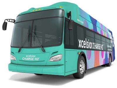 Amérique du Nord : New Flyer dévoile son premier bus à hydrogène