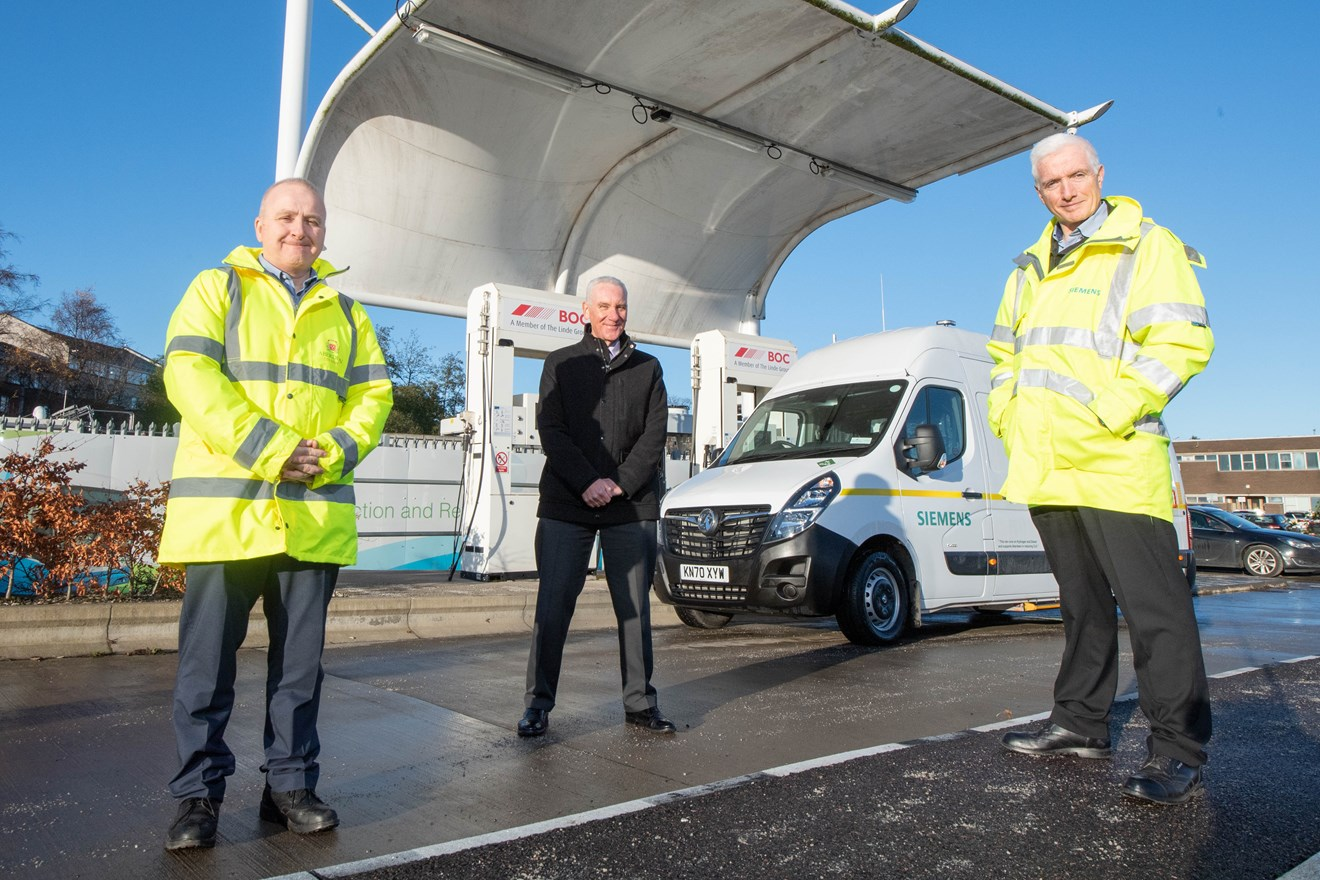 Un véhicule bicarburation diesel-hydrogène pour Aberdeen
