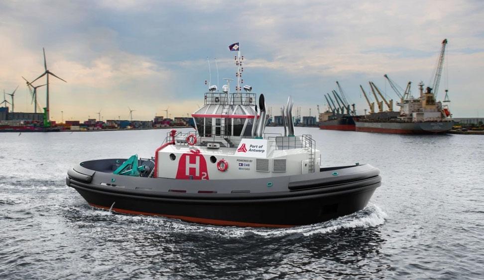 Port d'Anvers : Hydrotug, le premier remorqueur à hydrogène au monde