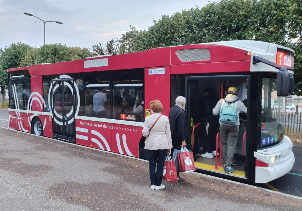 Auxerre met en service son premier bus hydrogène