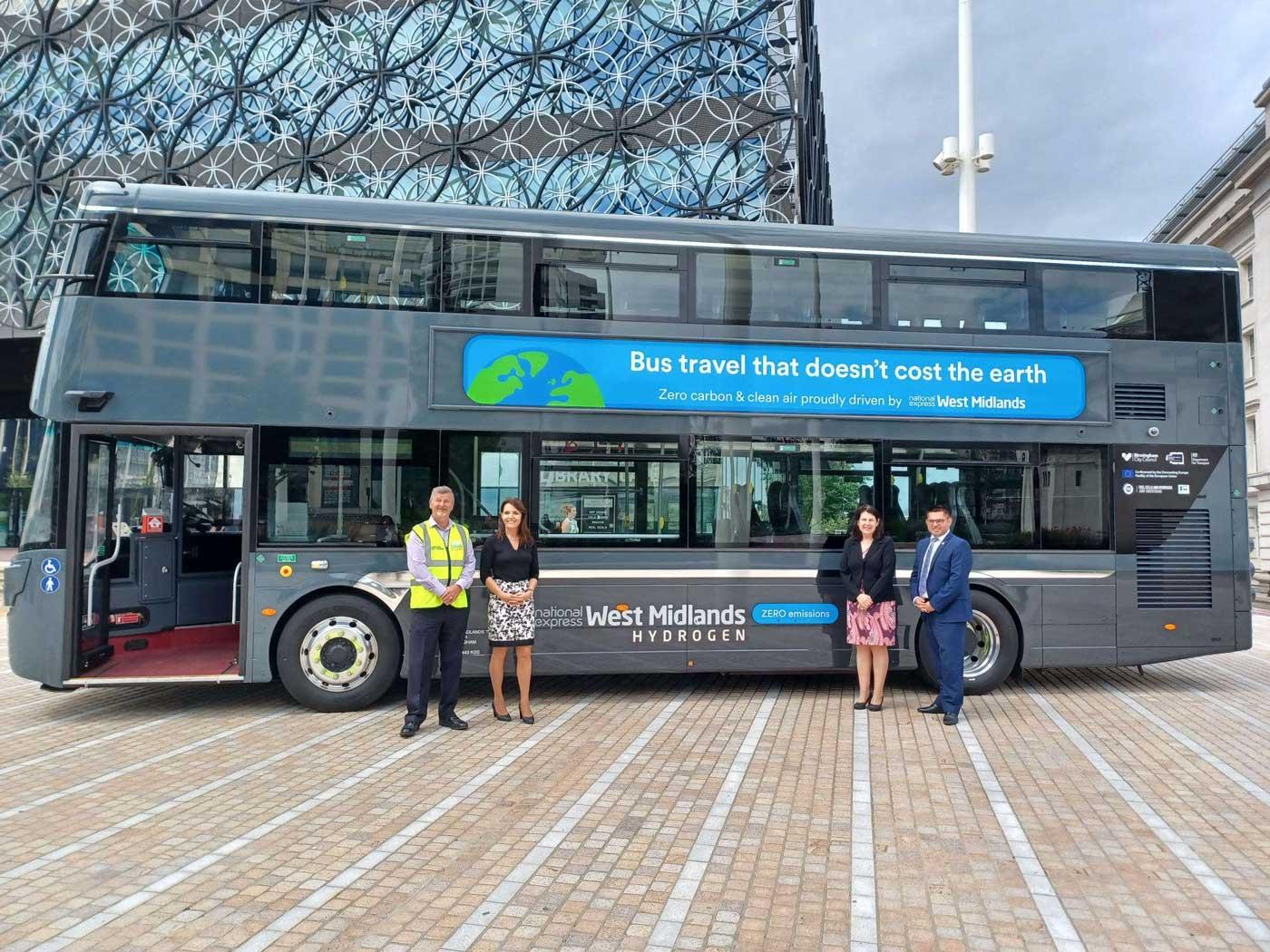 Birmingham reçoit son premier bus à hydrogène