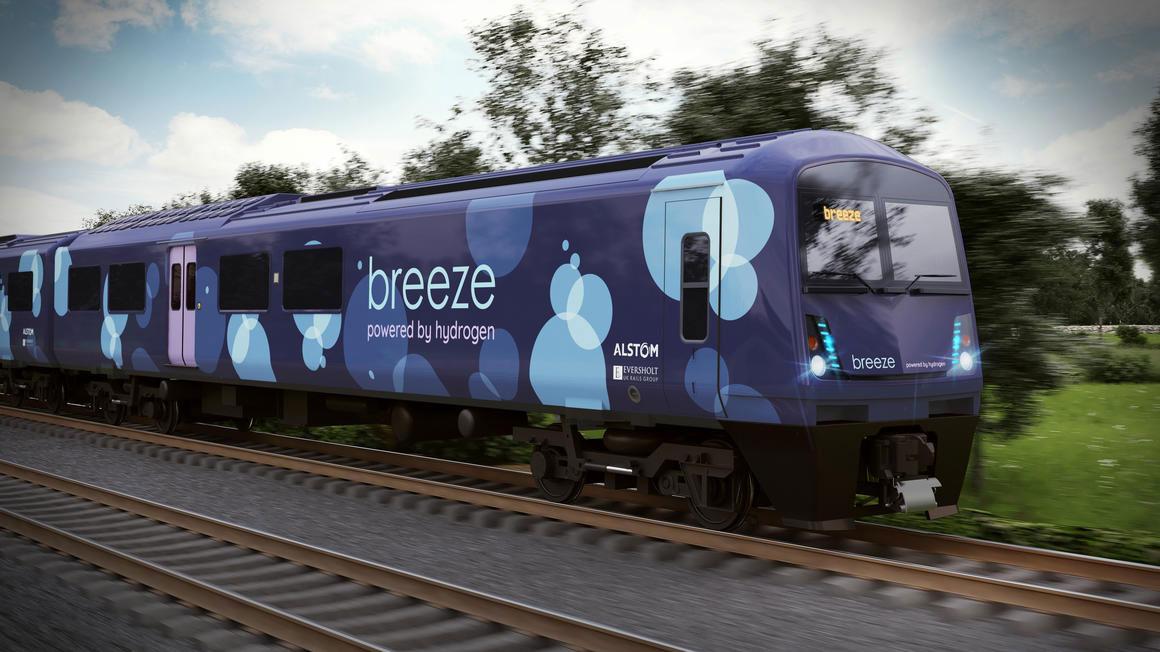 Alstom et Eversholt Rail révèlent leur train à hydrogène