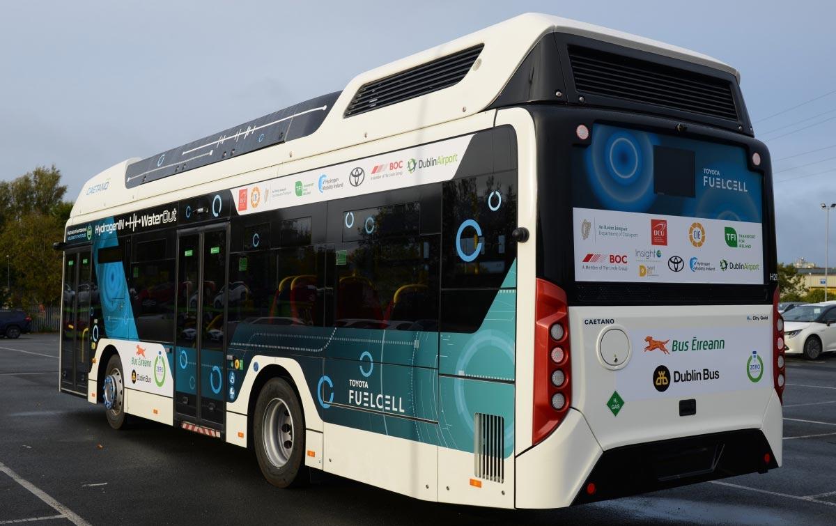 Irlande : 3 000 kilomètres parcourus par le bus à hydrogène en test à Dublin