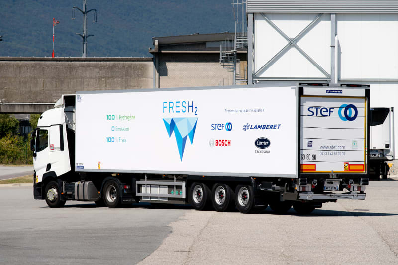 FresH2 : la remorque réfrigérée à hydrogène débute ses tests