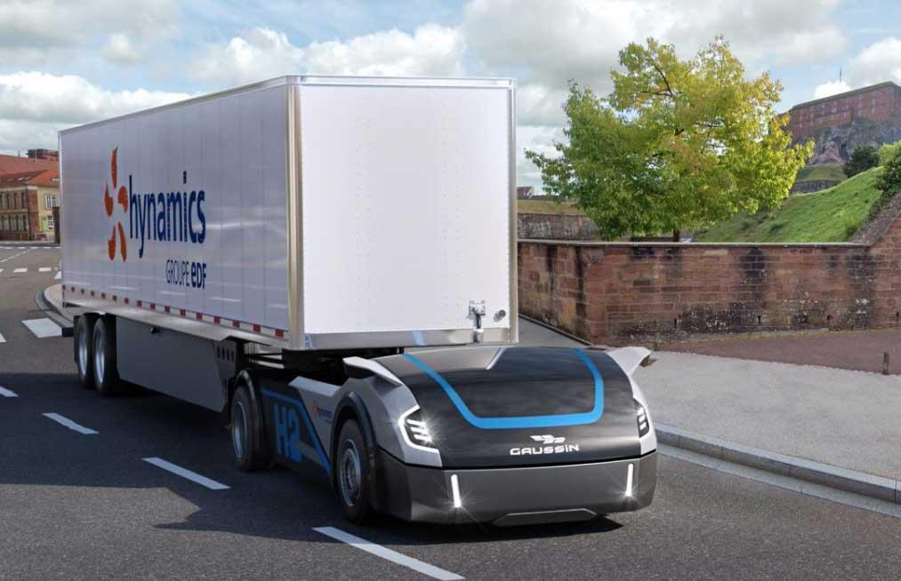 Gaussin associé à Hynamics pour tester ses camions à hydrogène autonomes