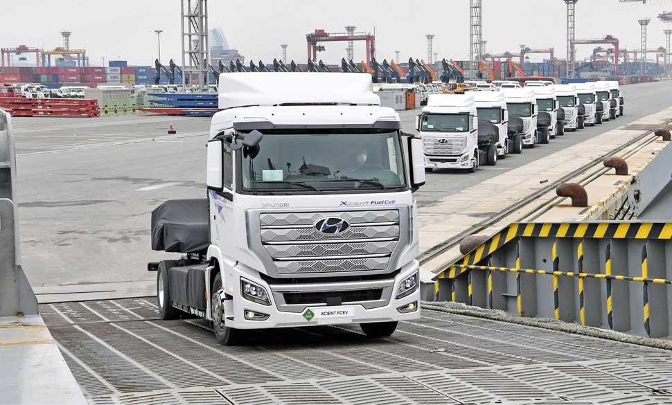 Hyundai exporte ses premiers camions à hydrogène vers l'Europe