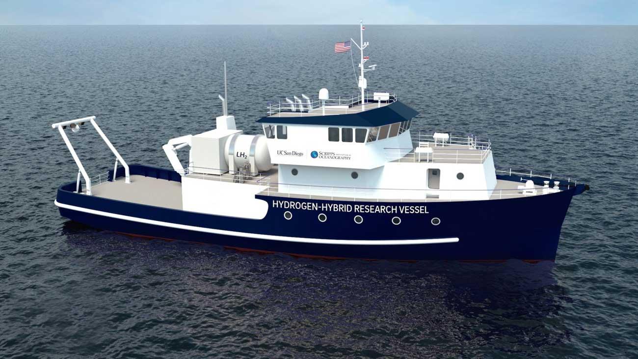 Un navire hybride à hydrogène pour l'université de San Diego