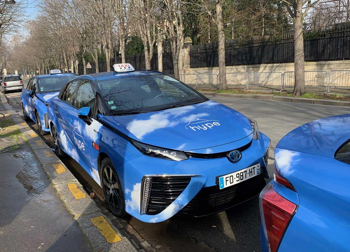 Taxis hydrogène : 500 nouvelles Toyota Mirai pour Hype d'ici fin 2020