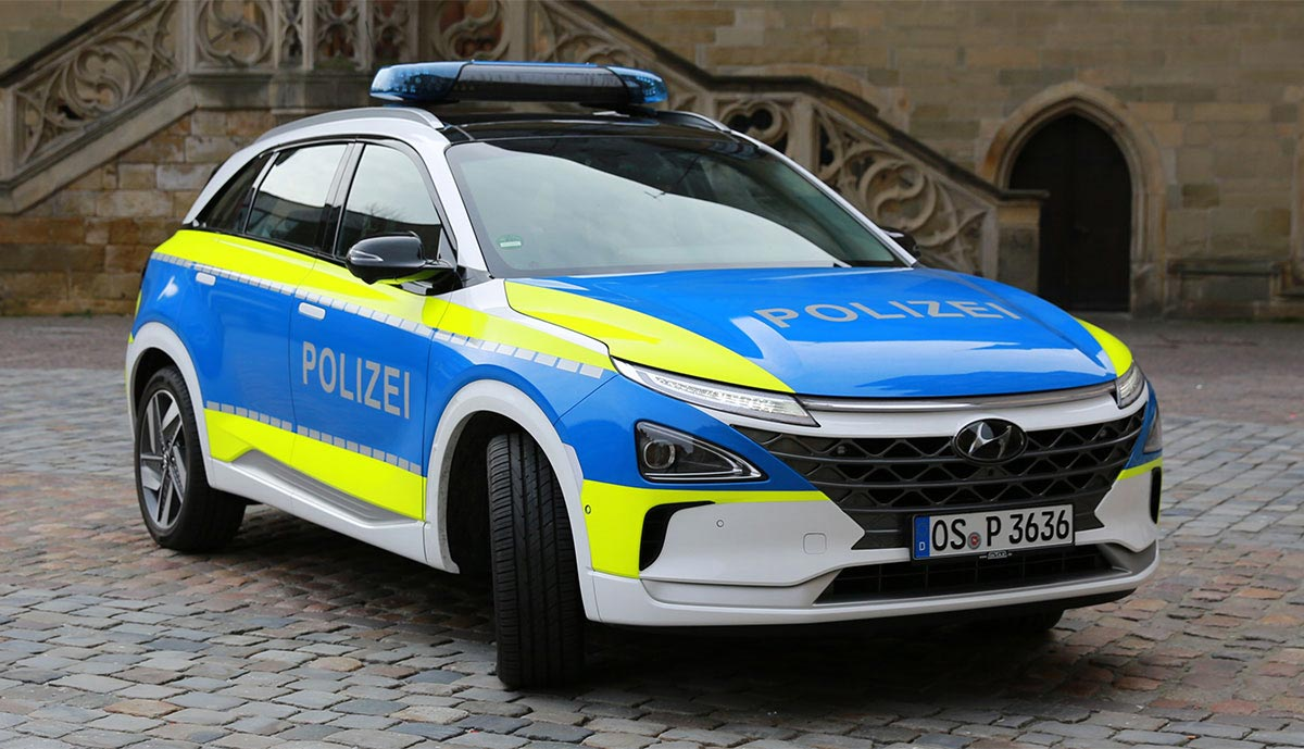 La police allemande passe à l'hydrogène avec le Hyundai Nexo