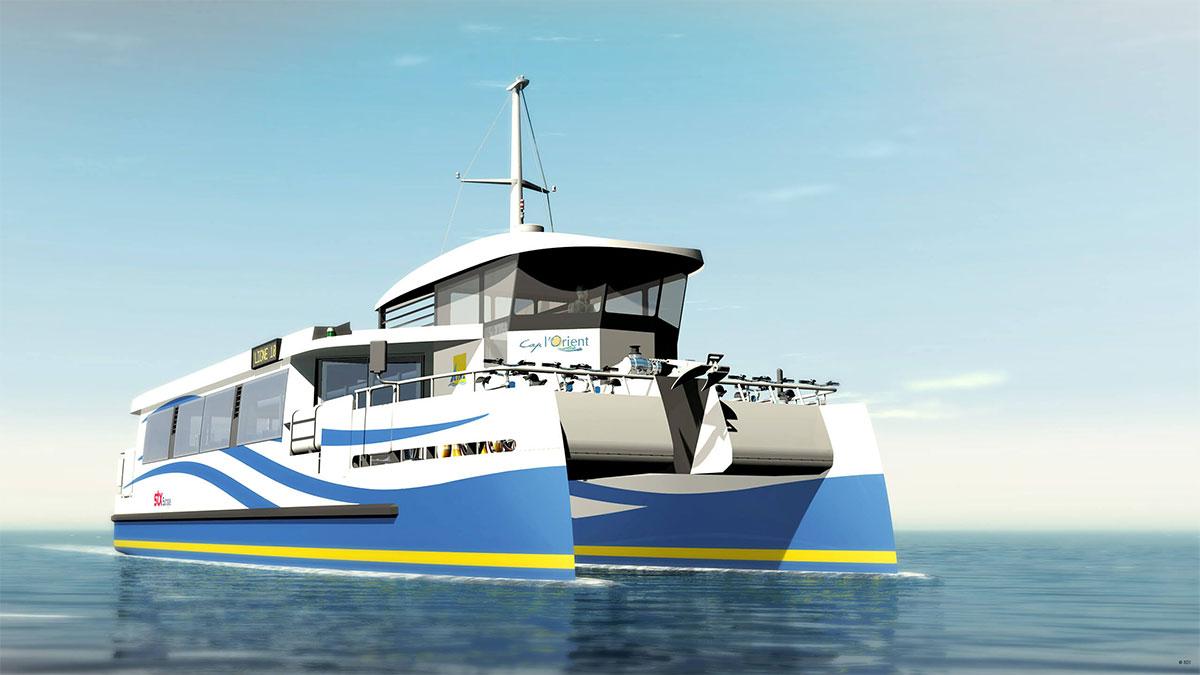 Lorient valide la construction d'un bateau-bus à hydrogène