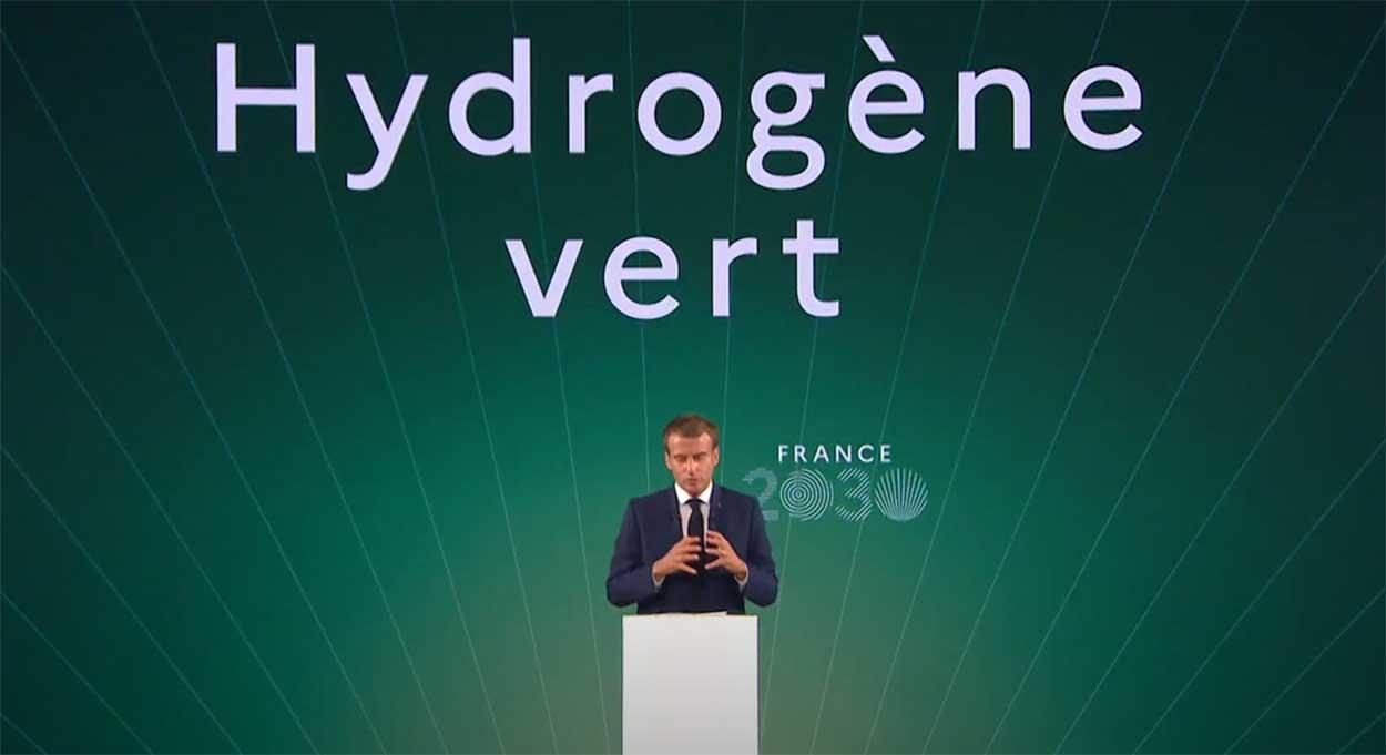 France 2030 : l'hydrogène vert priorité d'Emmanuel Macron