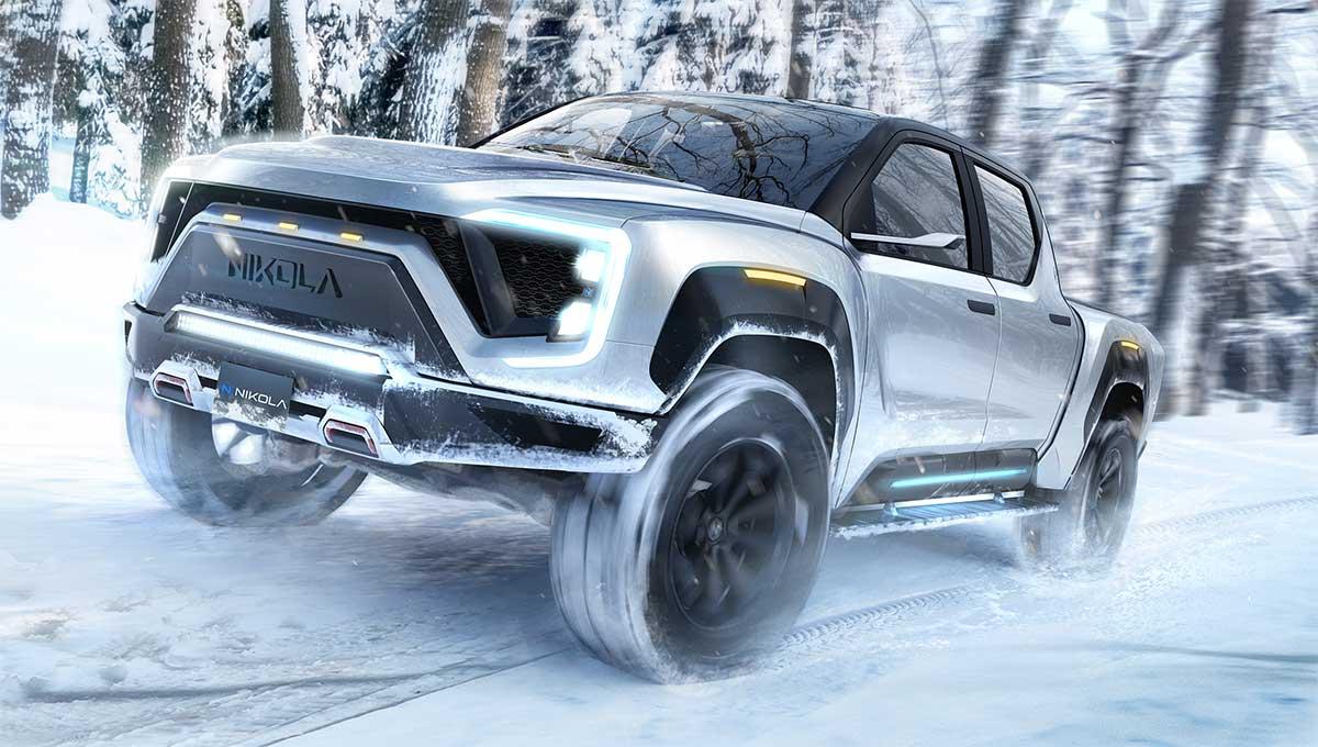 Nikola Motor révèle son premier pick-up à hydrogène