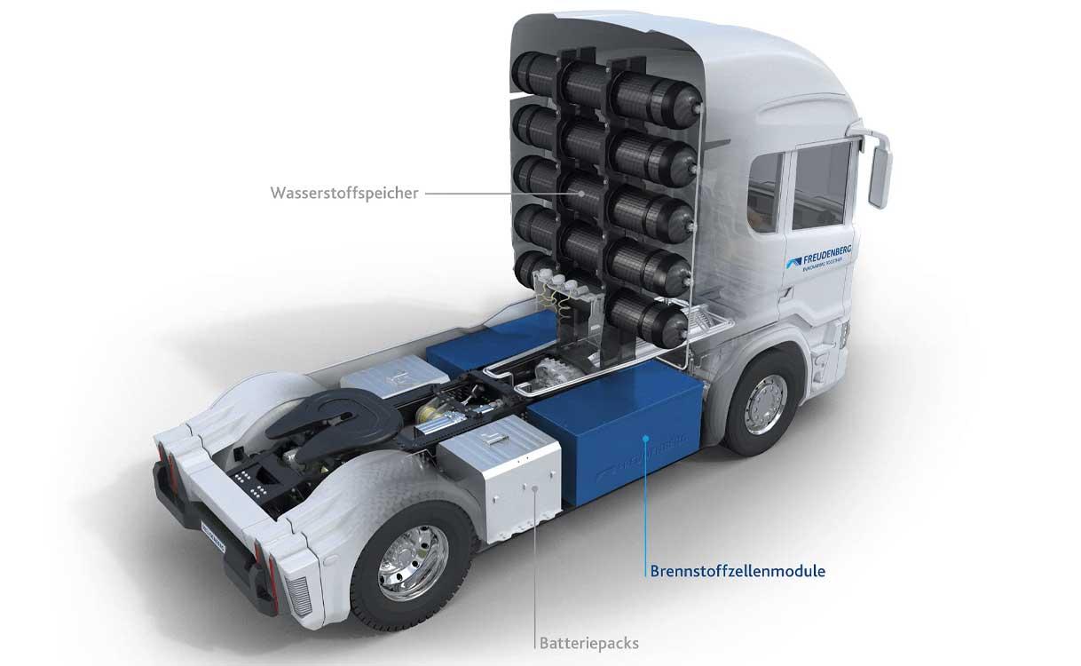 FST et Quantron développent une pile à combustible pour poids-lourds