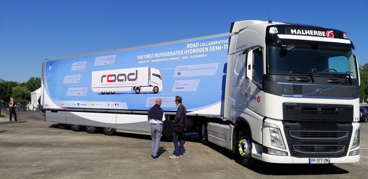 Chéreau lance le premier camion frigorifique à hydrogène
