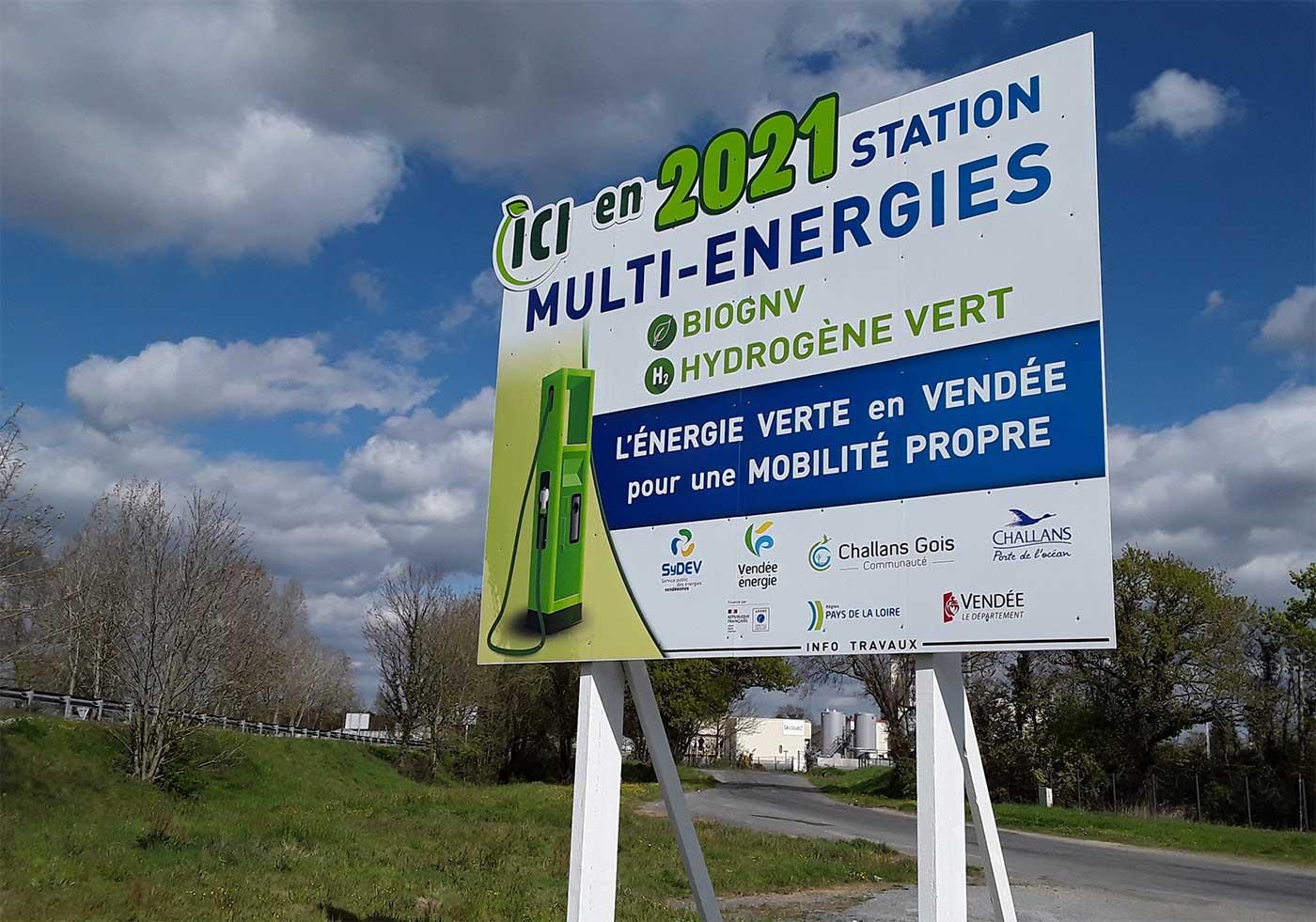 Vendée : une station hydrogène pour Challans d'ici fin 2021