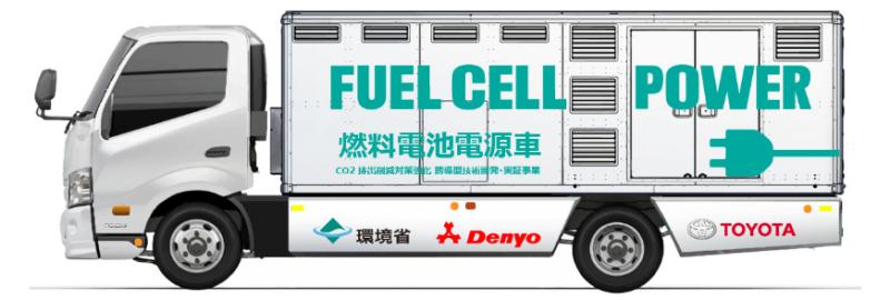Denyo et Toyota testent un générateur électrique mobile à hydrogène