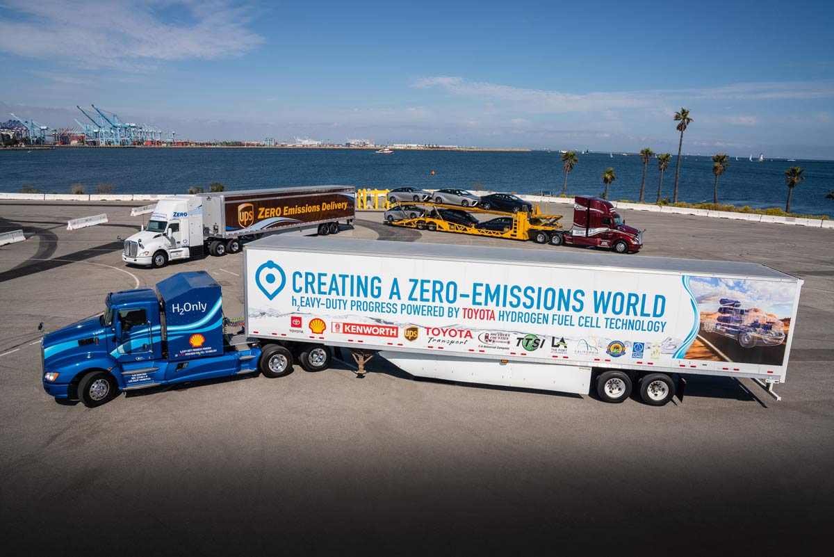 Toyota et Kenworth lancent en Californie un nouveau camion à pile à combustible